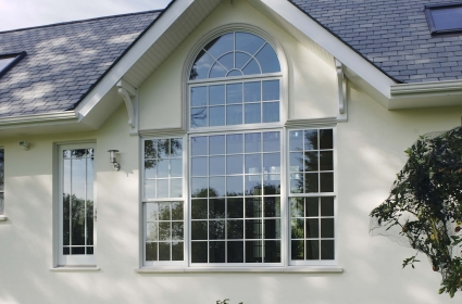 Mix of Contemporary Windows with Traditional Sash