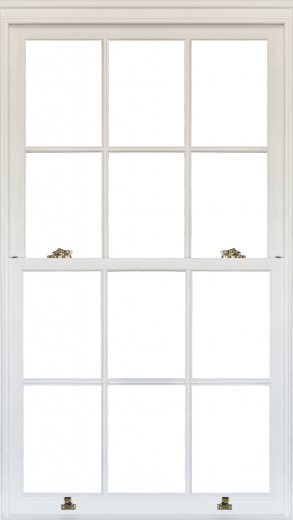 An Image of a Heritage Wood Sliding Sash Window With Pure White Finish
